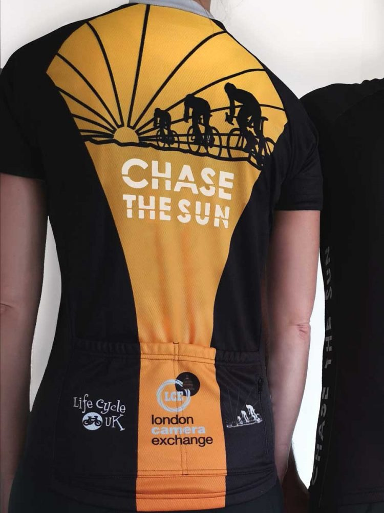 Chase the Sun Cycling Jersey female back view