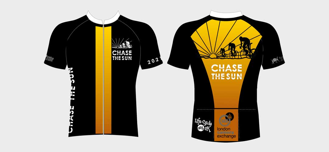 Chase The Sun 2021 Jersey graphic back and front